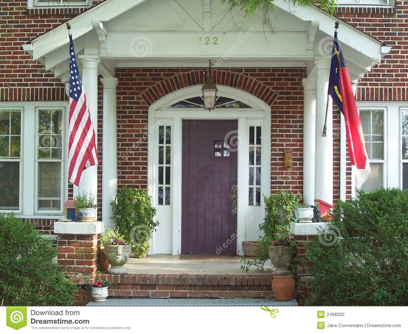 Front Porch On Old Home Stock Photo Image Of Stately
