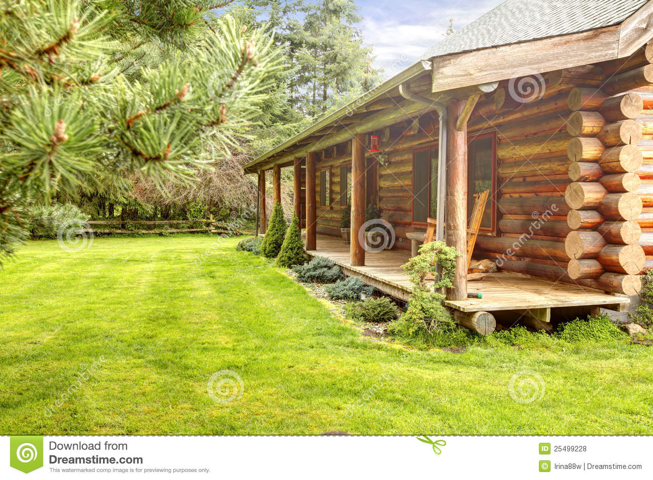 Log cabin on a lake royalty free stock photography image 7866317 - Log Cabin Front Porch