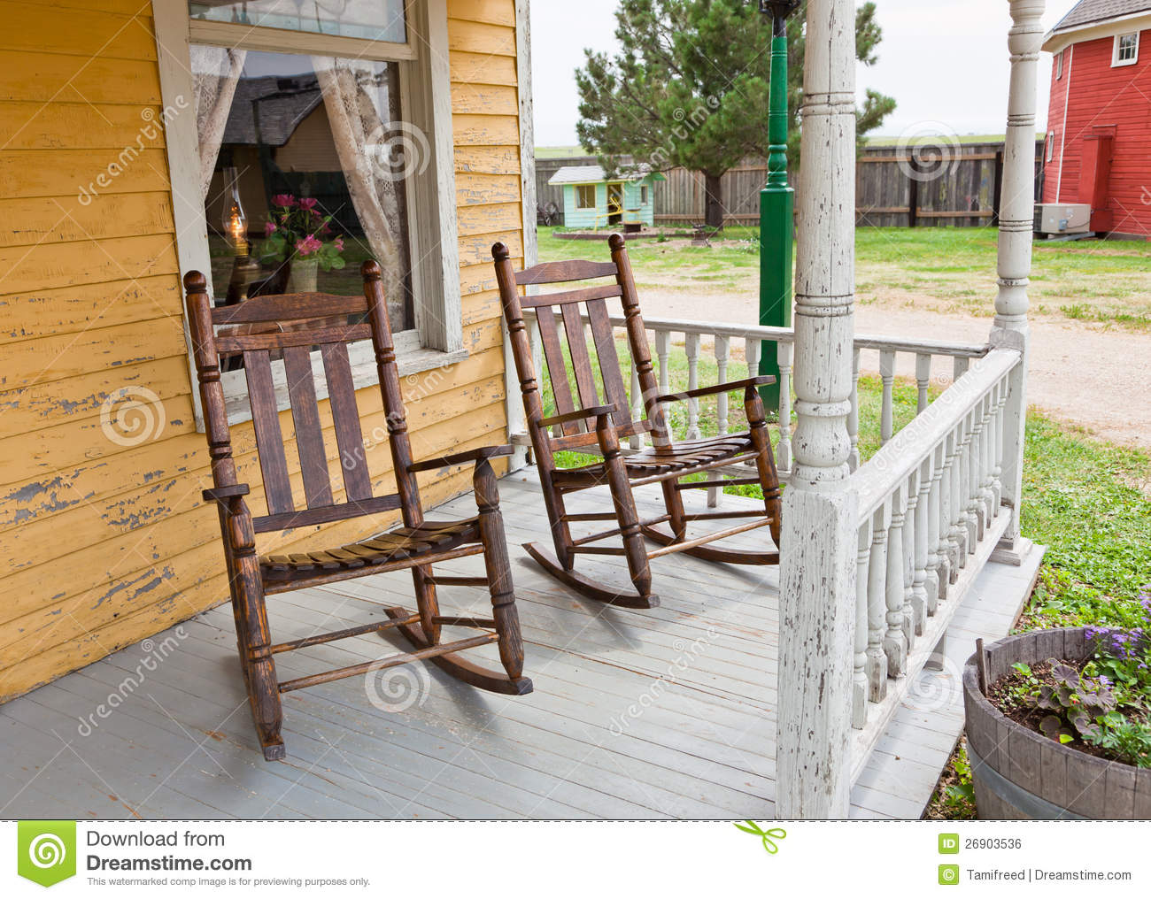 Royalty Free Stock Photo. Download Front Porch Rocking Chairs ...