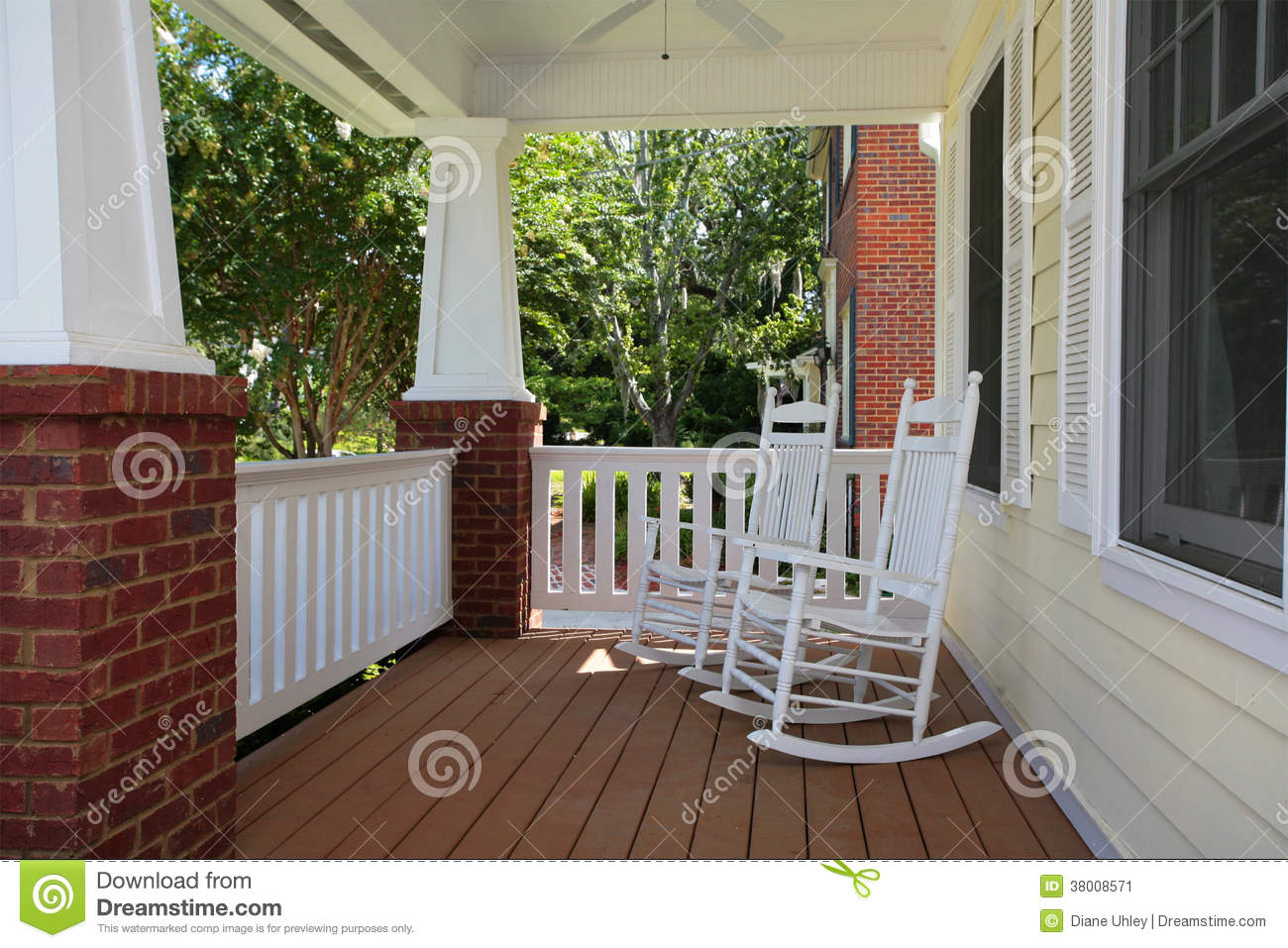 Front Porch With Rocking Chairs Stock Image Image Of Modern