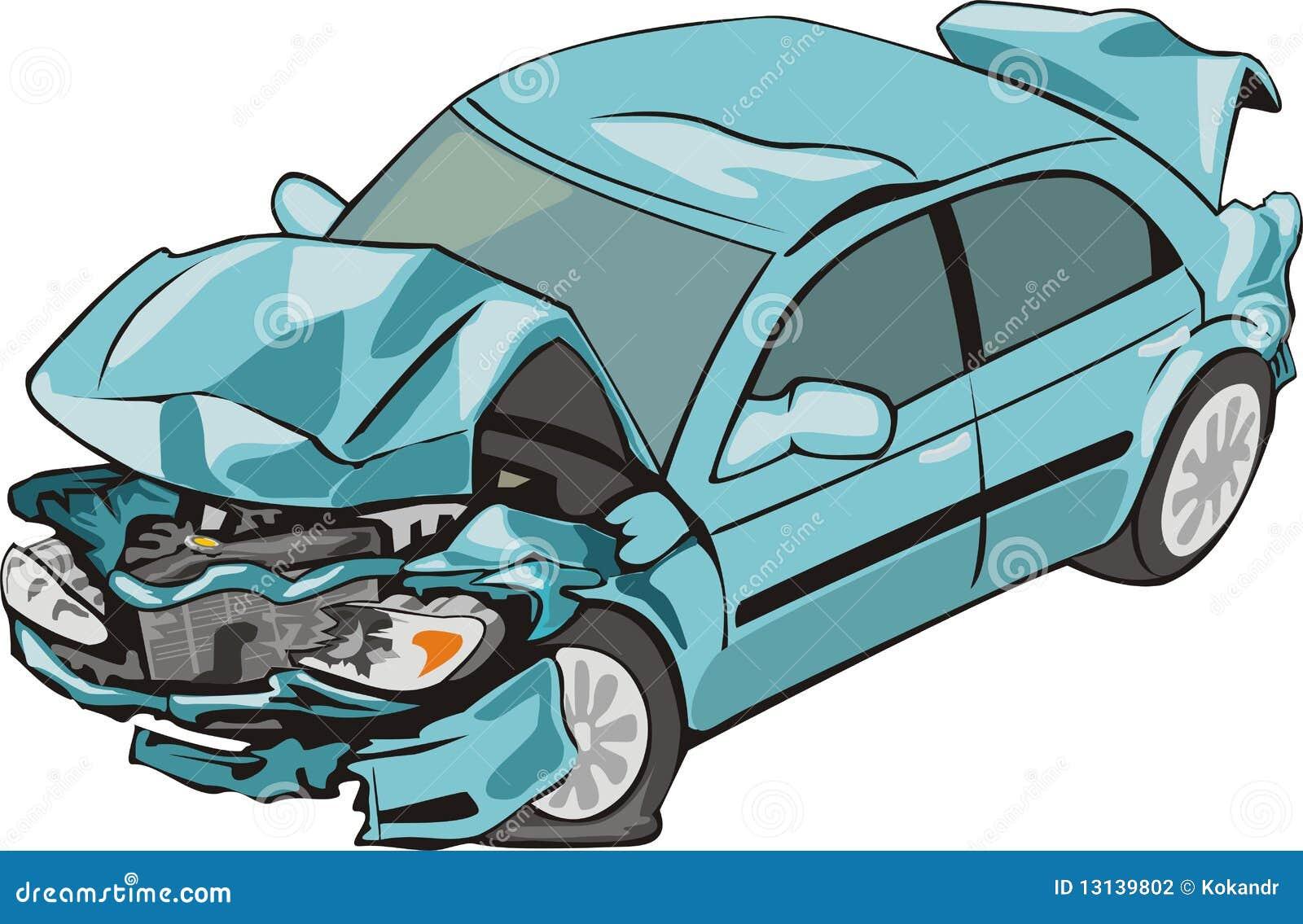 Wrecked Car Cartoon