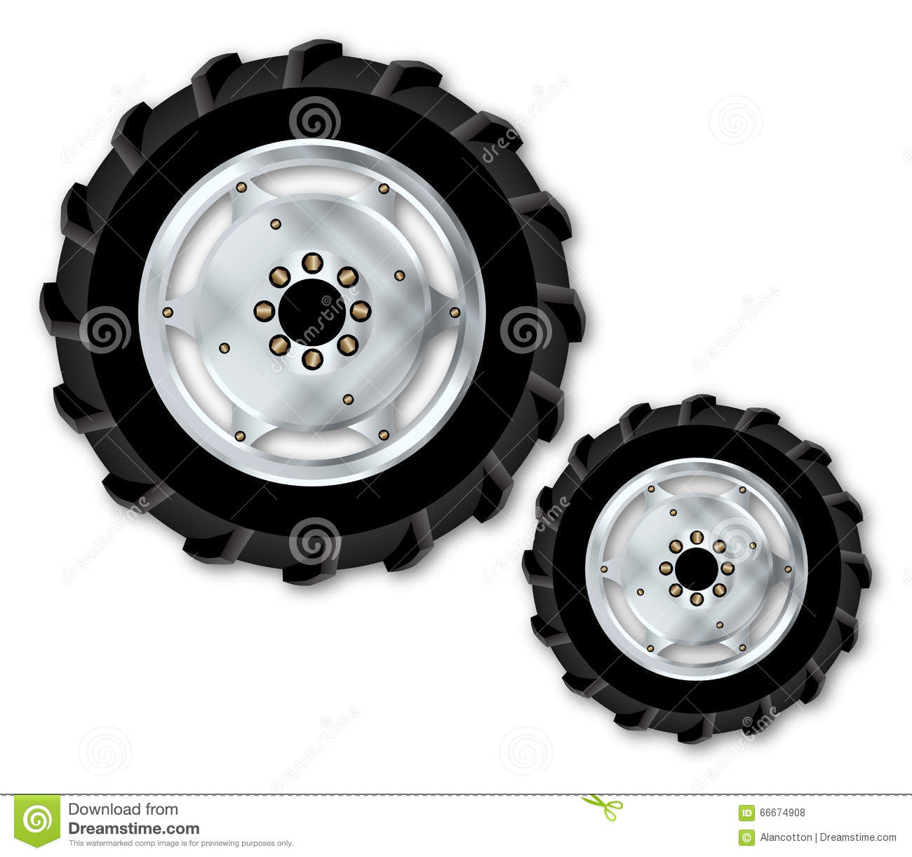 White Tractor Rims : Front wheels royalty free stock photo cartoondealer