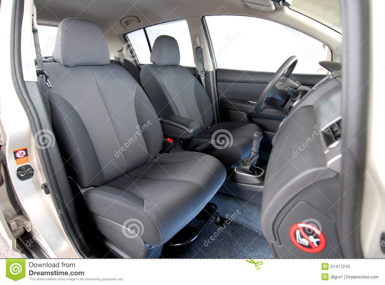 front seats in car stock photo image 31417210. Black Bedroom Furniture Sets. Home Design Ideas
