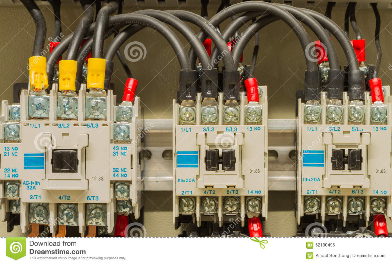 Front Side Showing Switches And Wiring Of Machine Control Stock Image Image Of Ethernet Bridge 62180495