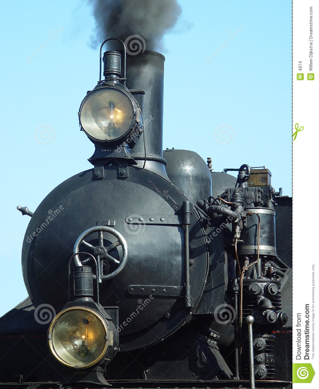 Front of a steam engine