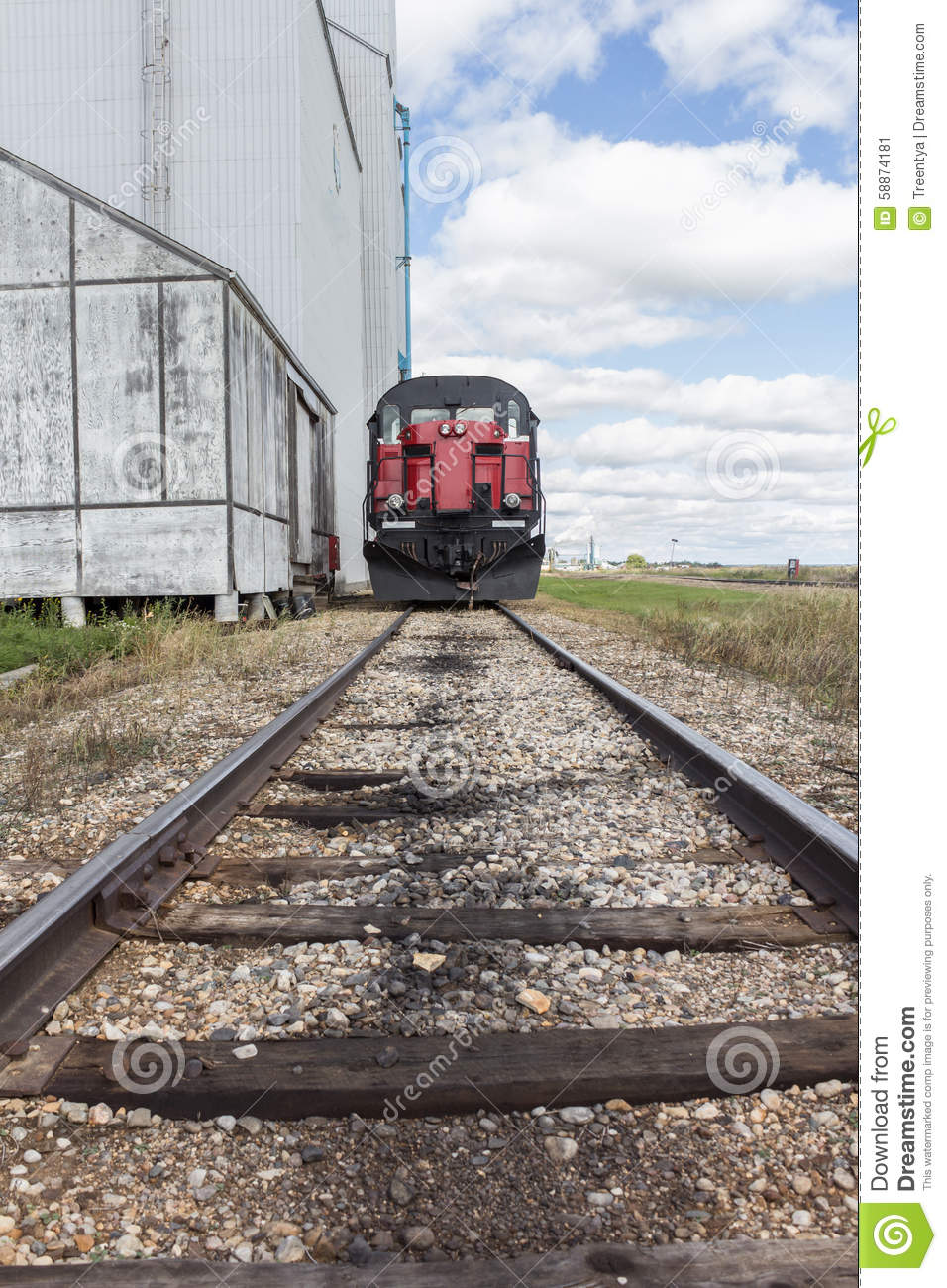Front Of A Train On A Railway Track Stock Image - Image of voyage