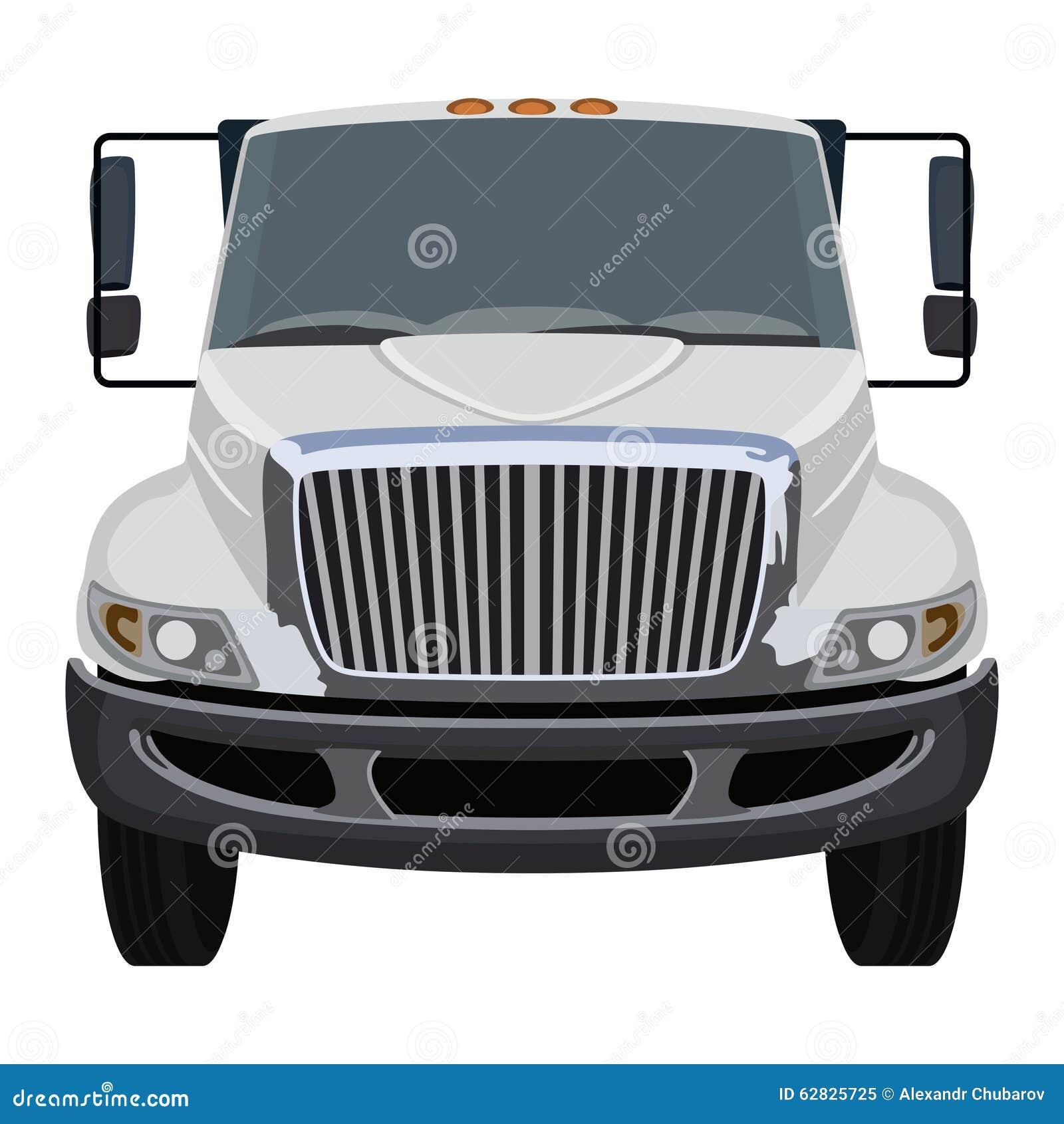 Semi Truck Seats >> Front Truck Stock Vector - Image: 62825725