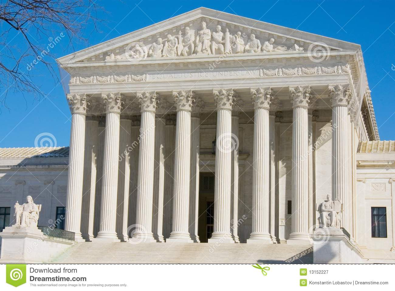 The Front Of The Us Supreme Court Royalty Free Stock