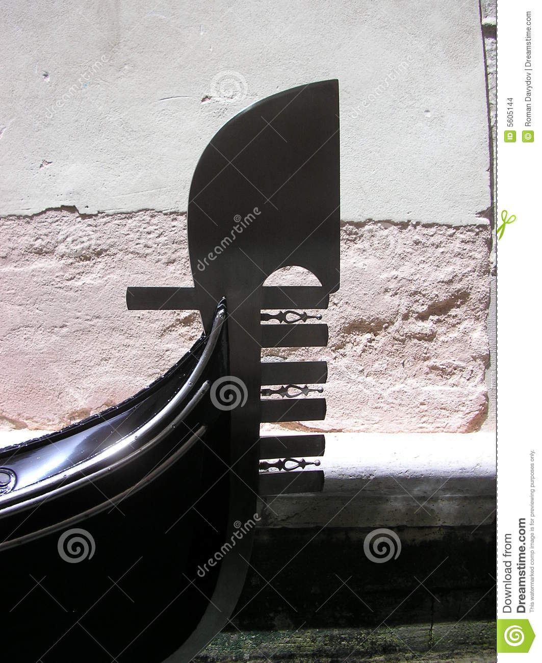 Front Of Venetian Gondola Stock Images - Image: 5605144