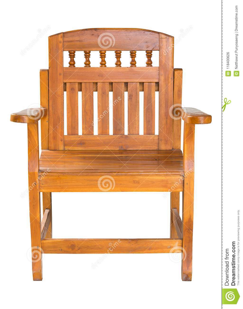 Fabulous Front View Of Antique Wooden Chair Isolated On White Stock Machost Co Dining Chair Design Ideas Machostcouk