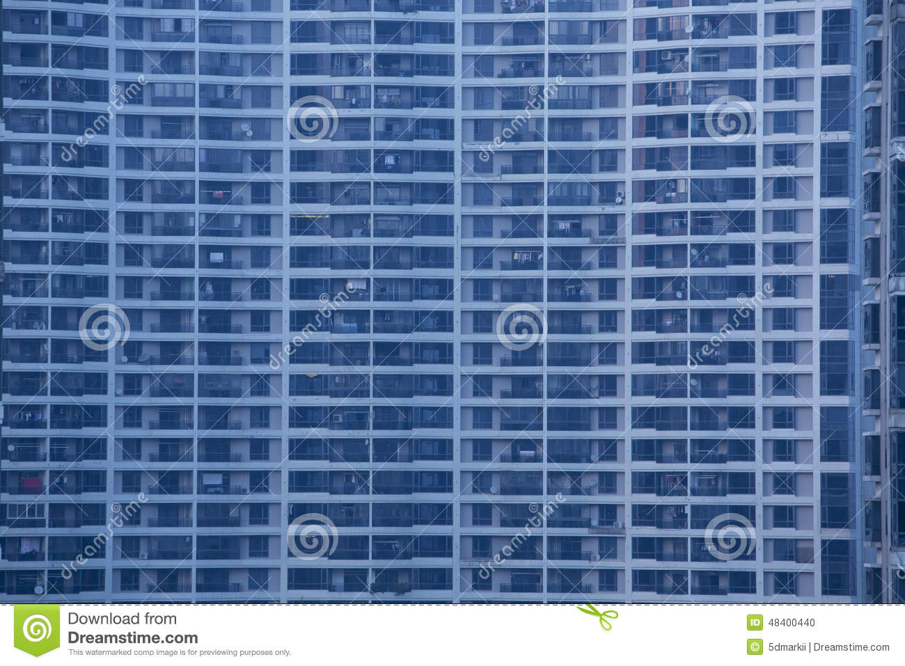 Apartment Building Front front view of apartment building windows stock photo - image: 48400440