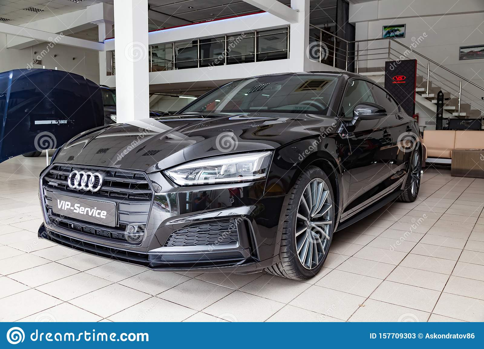 Front View Of The 2019 Audi A5 Sportback Prepared For Sale ...