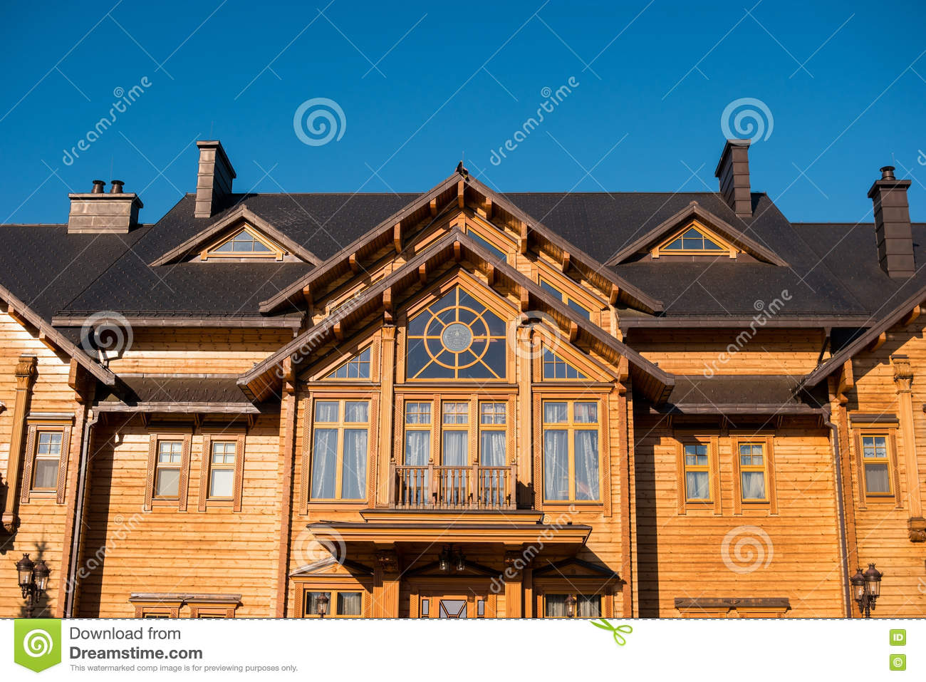 Front View Of Big House Stock Photo Image Of Luxury 80126822