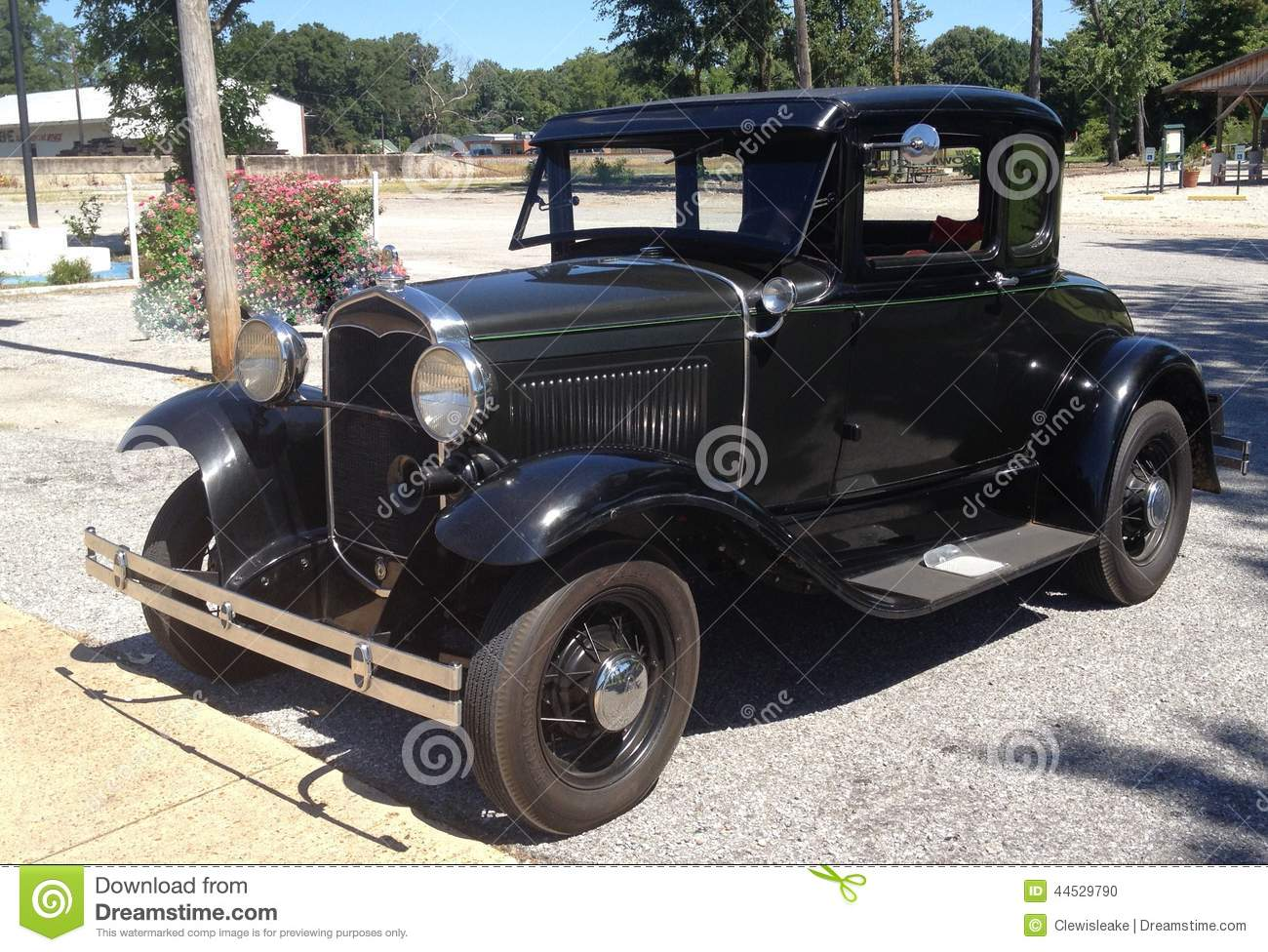 Front View Of Black 1940\'s Ford Antique Car. Editorial Image - Image ...