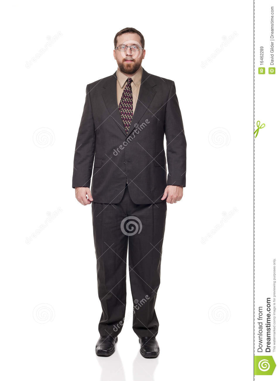 Front view businessman full length
