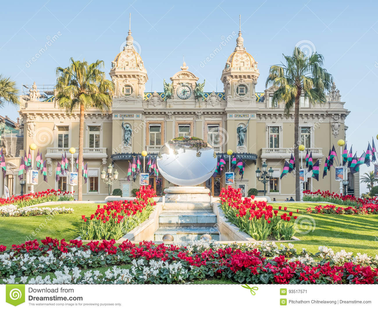 Casino De Monte Carlo >> Front View Of Casino De Monte Carlo Monaco Editorial Photo