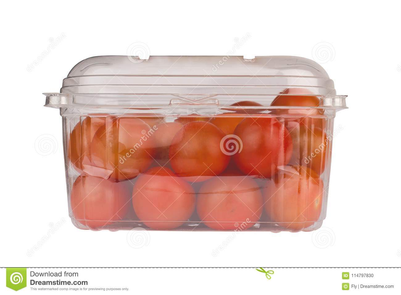 Cherry Tomatoes In Plastic Packaging Stock Photo Image of empty