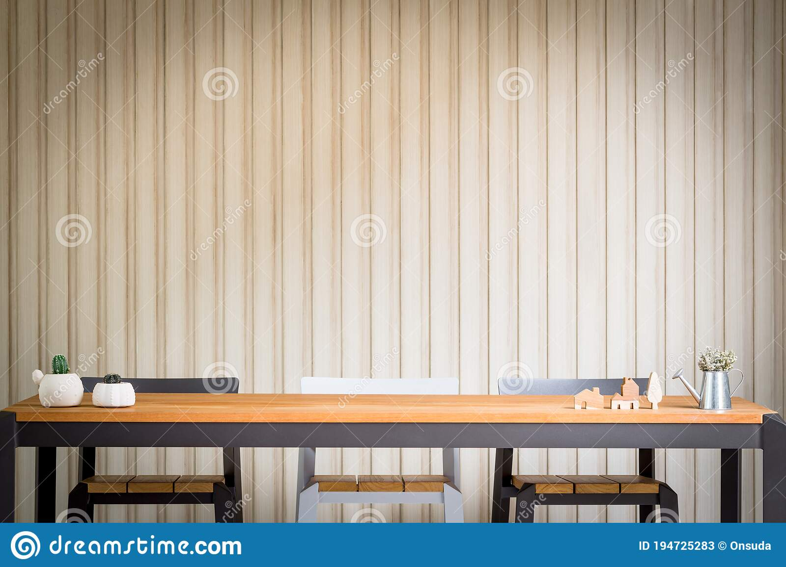 Picture of: Closeup High Wooden Bar Table And Chairs Stock Image Image Of Model Chair 194725283