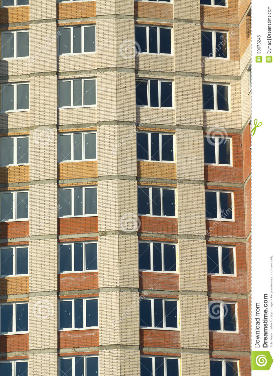 Front view of construction building closeup royalty free for Exterior view of building