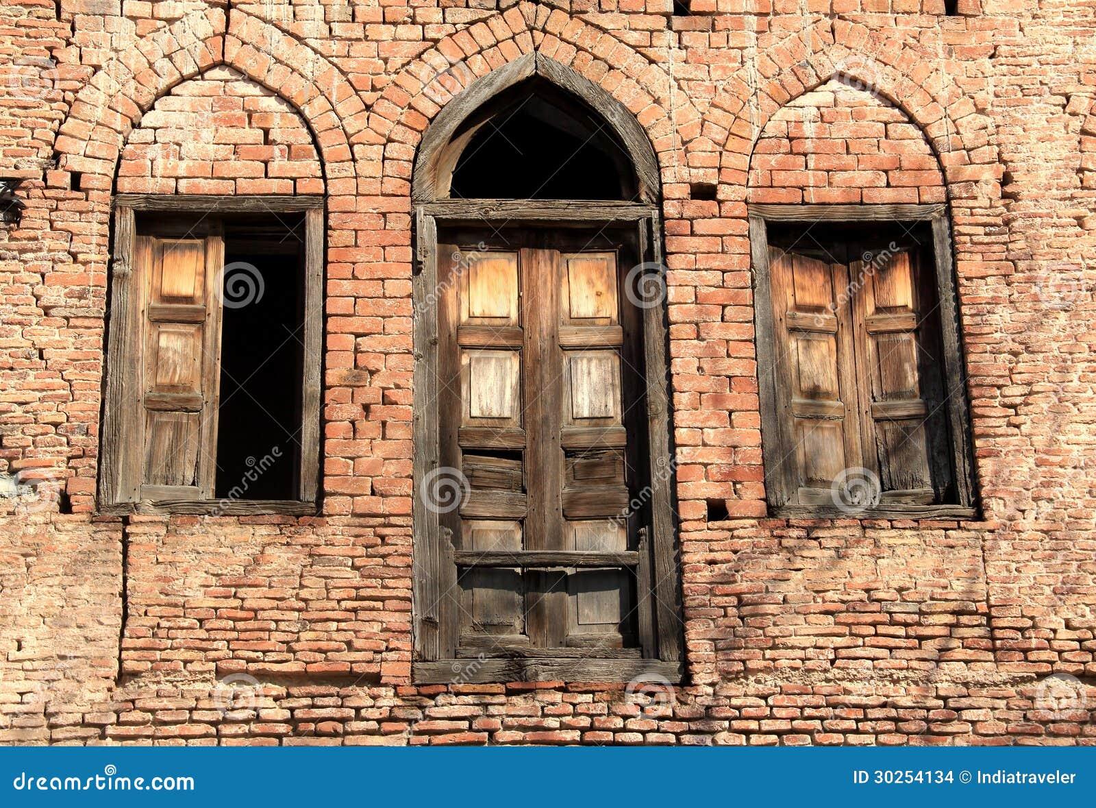 Old door windows stock photo image of doorway for Indian house window