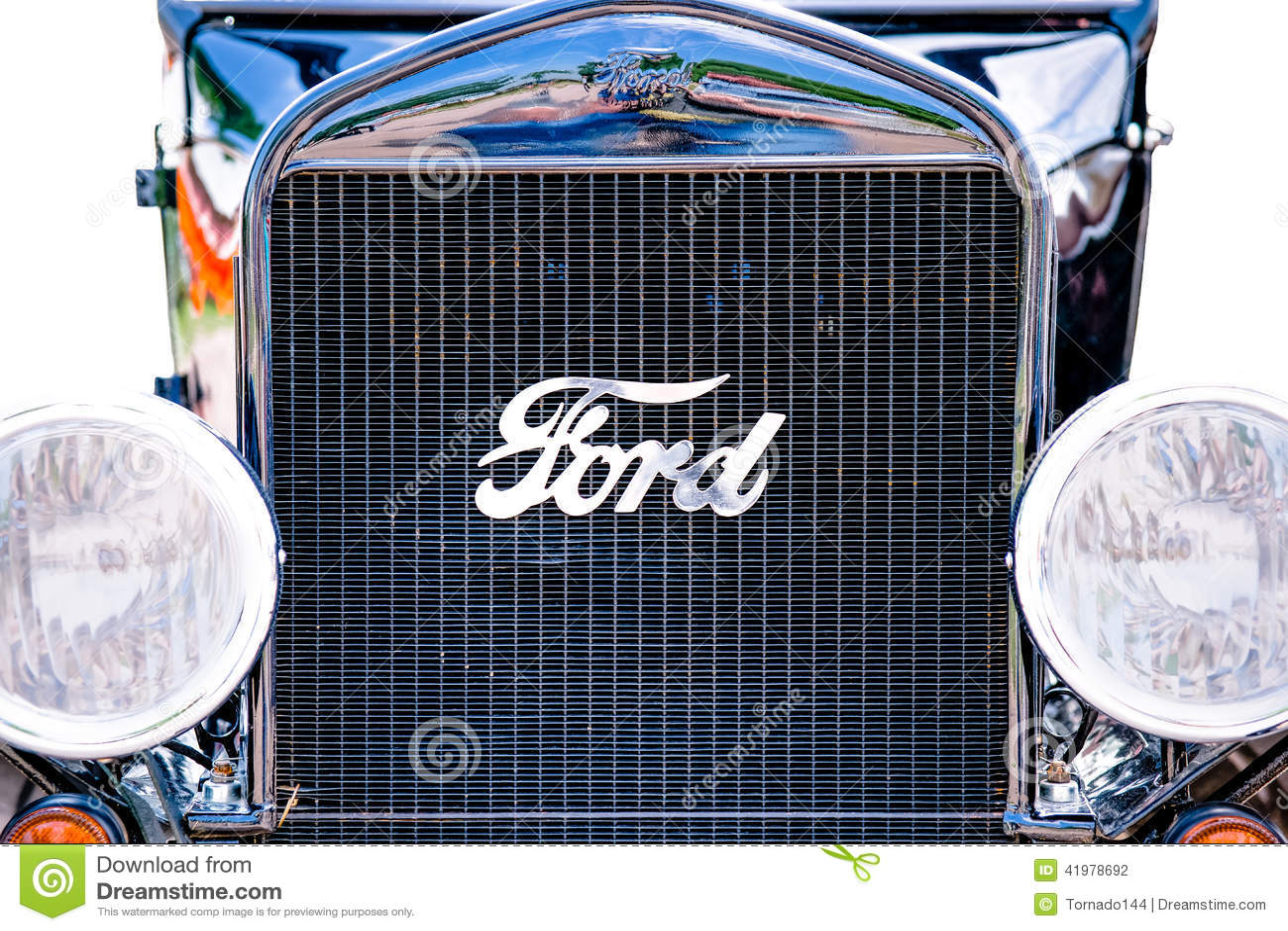 Design of a car radiator - Editorial Stock Photo