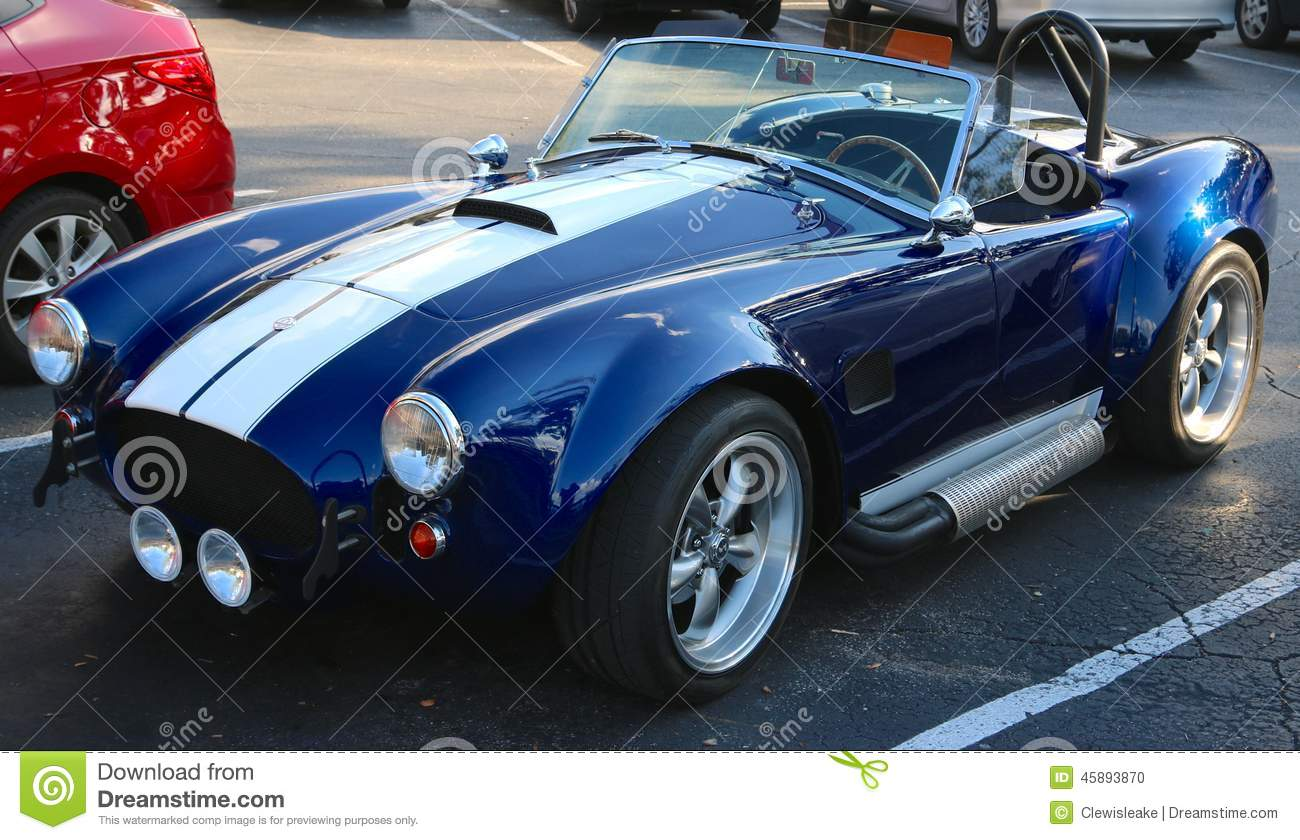 Front View Of 1969 Ford Shelby Cobra Editorial Image