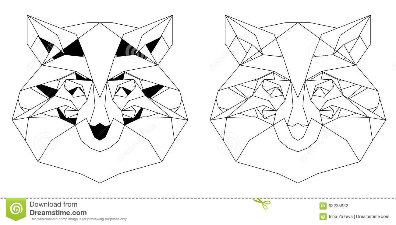 Tiger head triangular icon geometric trendy stock vector image - Front View Of Fox Head Triangular Icon Stock Photography