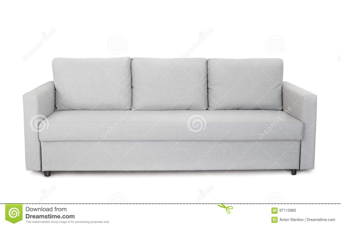 Front View Of Grey Sofa Stock Image Image Of Couch Elegance 97113983