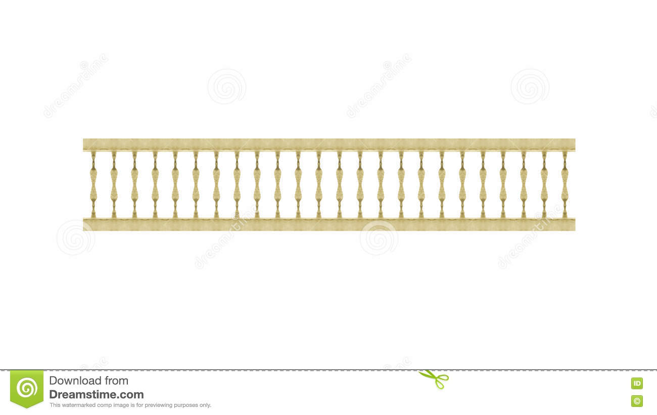 Cloture En Bois Blanc front view isolated de clôture en bois illustration stock