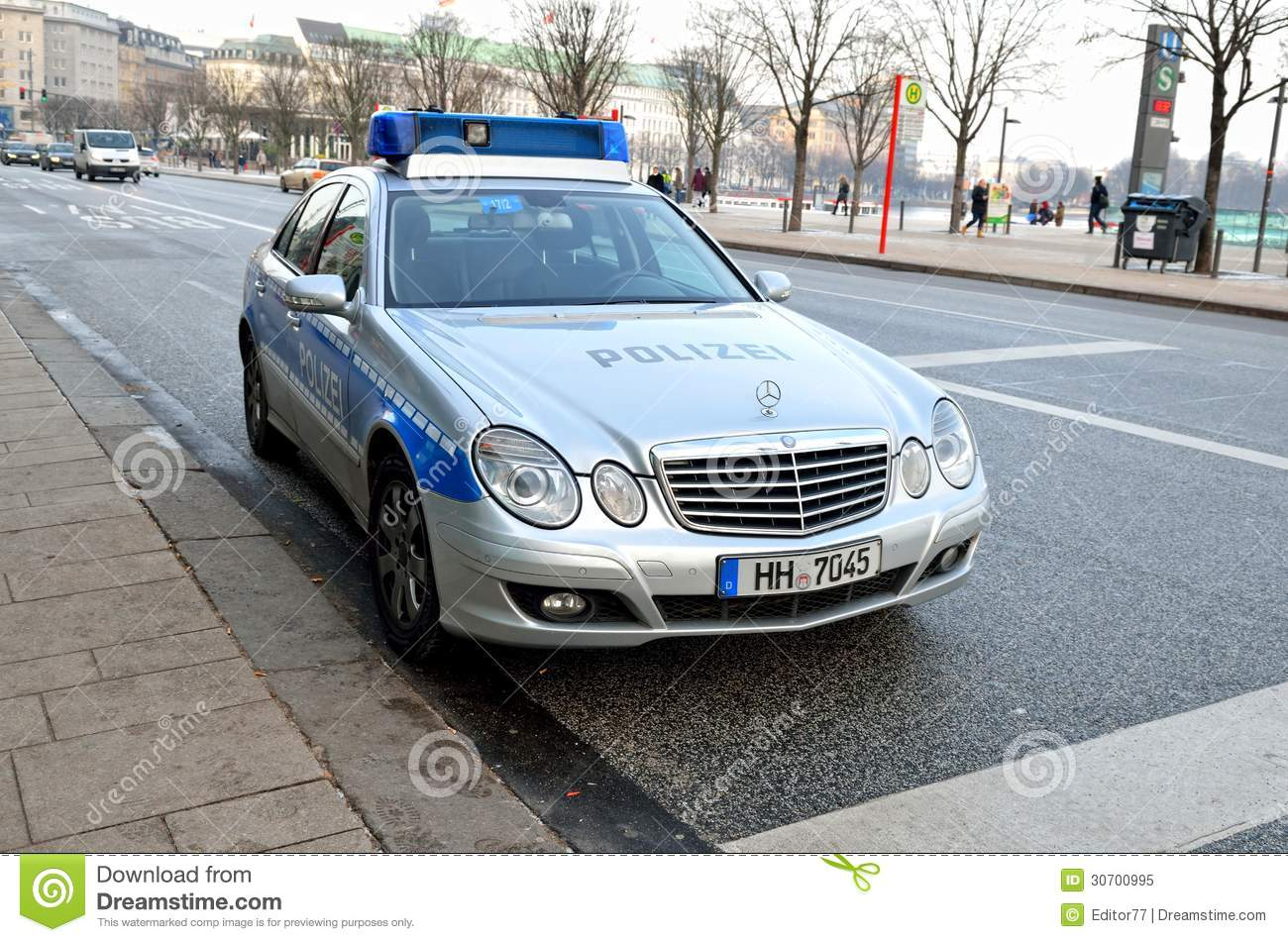 German Mercedes Police Car