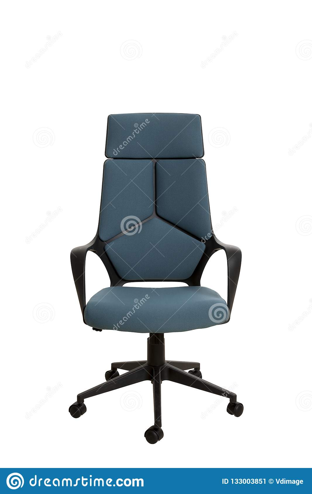 Strange Front View Of A Modern Office Chair Made Of Black Plastic Ncnpc Chair Design For Home Ncnpcorg
