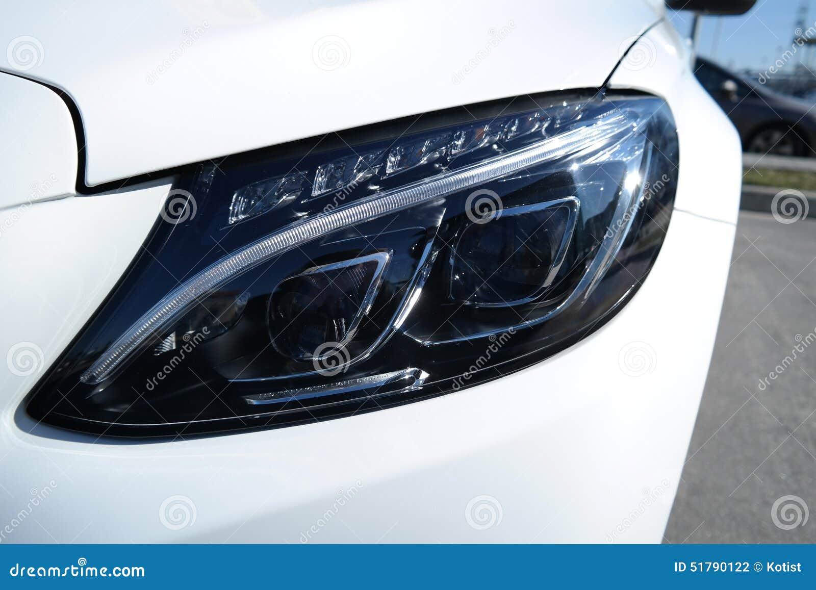Front view modern tecnology car head light