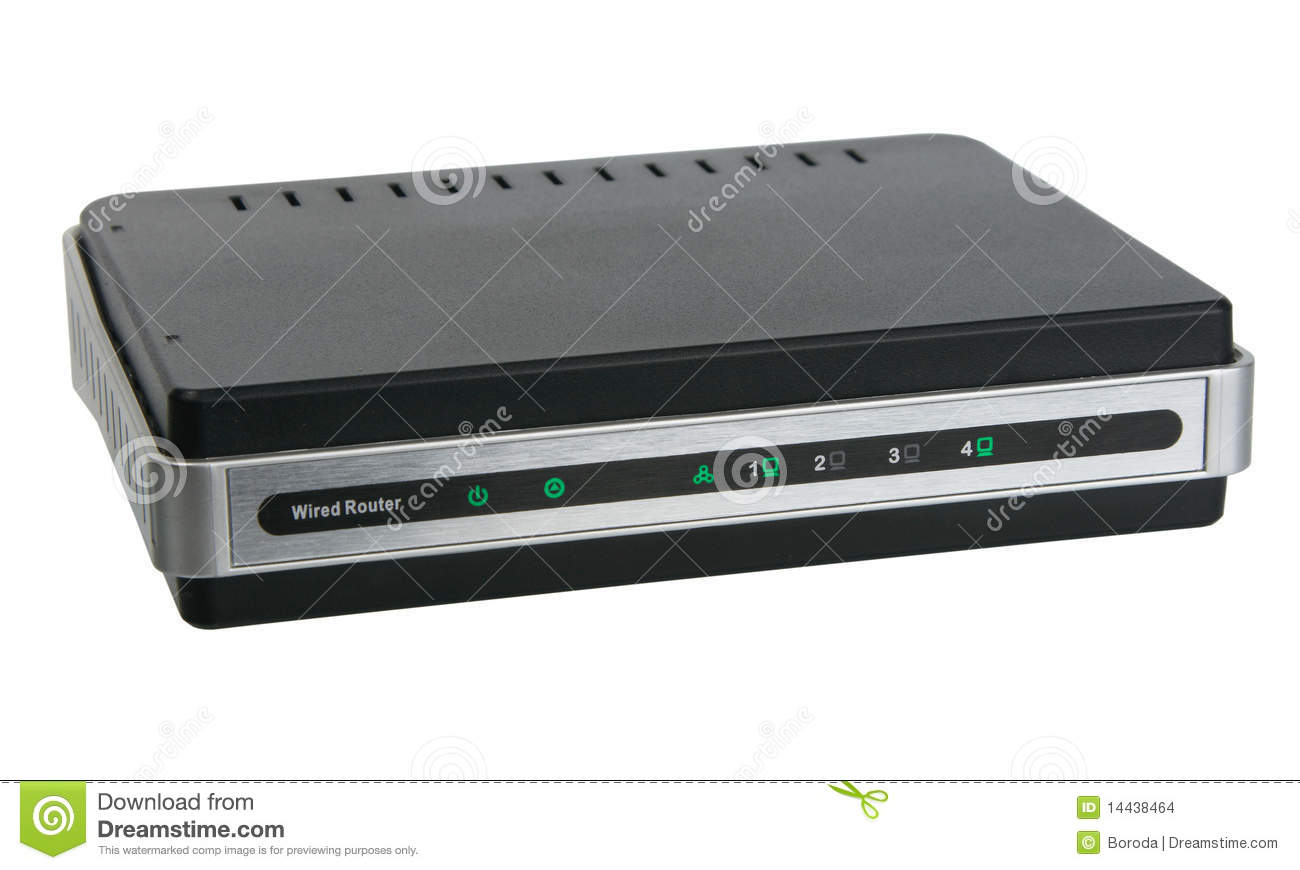 Front View Of Network Wired Router Stock Photo - Image of business ...