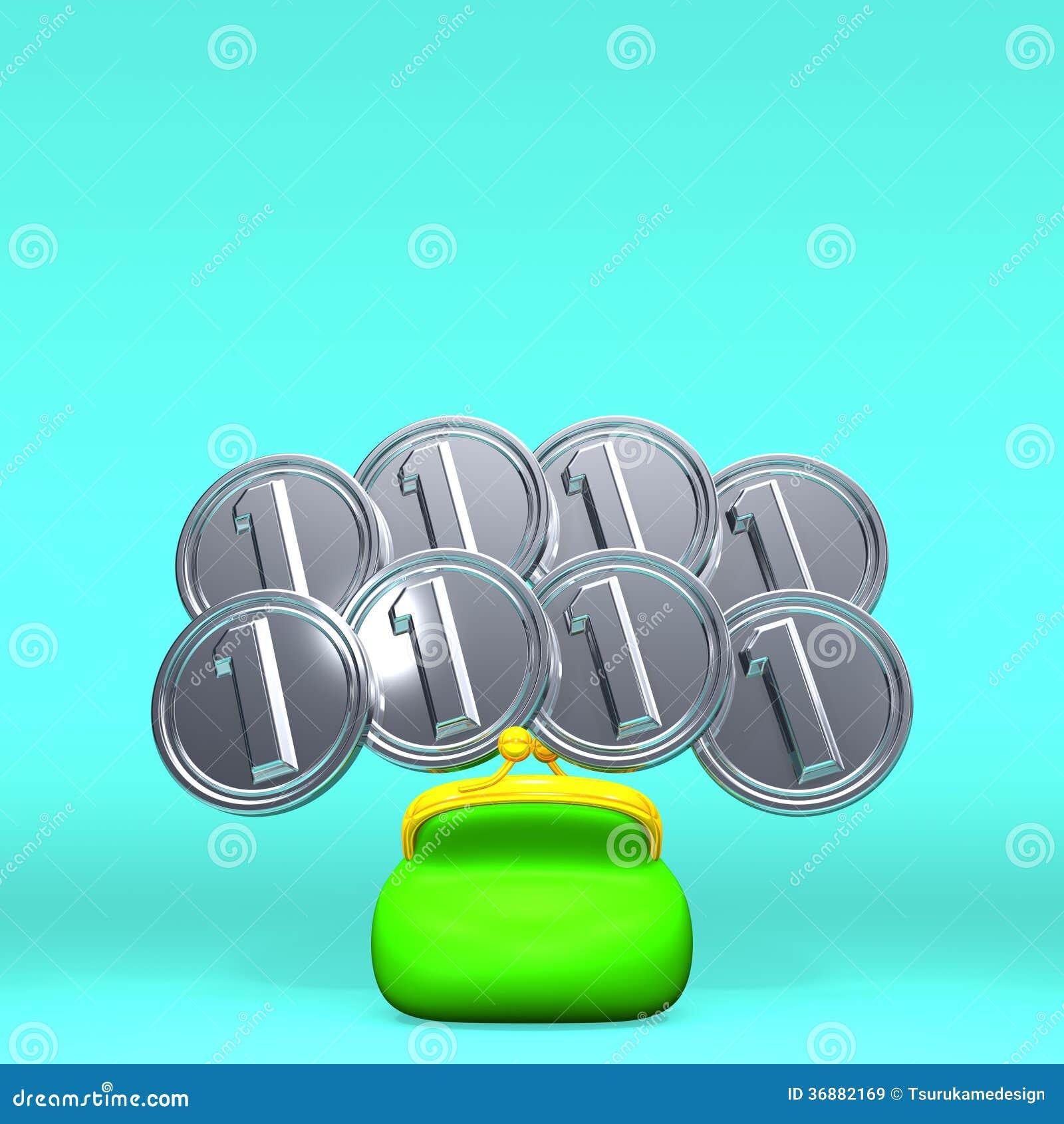 Download Front View Of Opened Purse Con 8 Monete Sullo Spazio Del Testo Illustrazione di Stock - Illustrazione di proprietà, borsa: 36882169