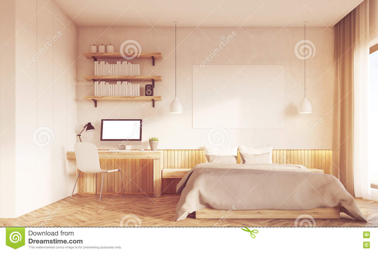 home office in master bedroom. Download Front View Of Sunlit Home Office And Master Bedroom Stock  Illustration - Of Bedroom Home Office In Master M