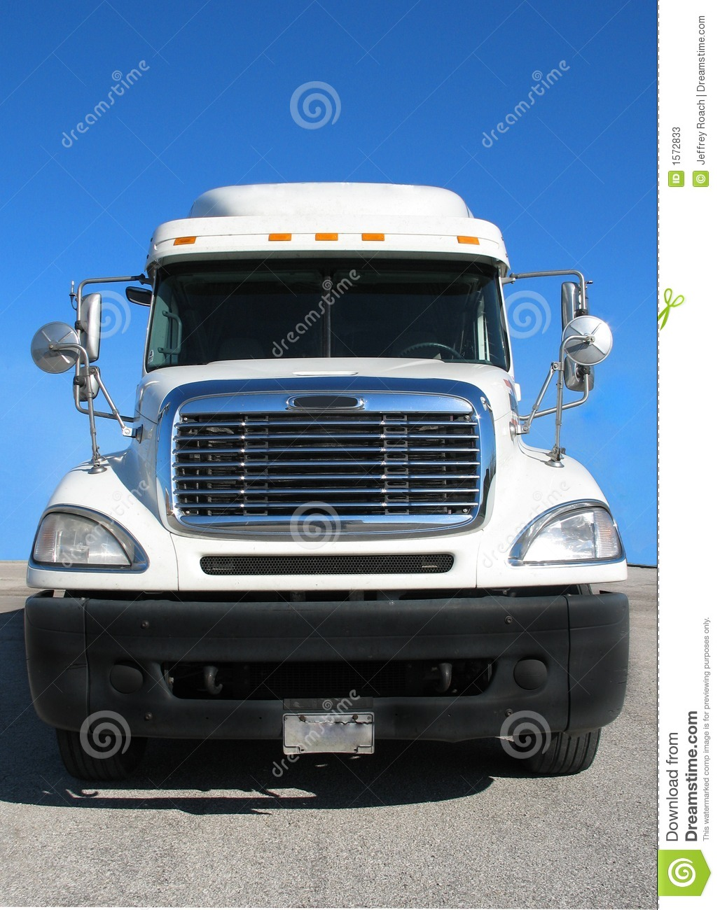 Front View Of Tractor Trailer Stock Image Image 1572833