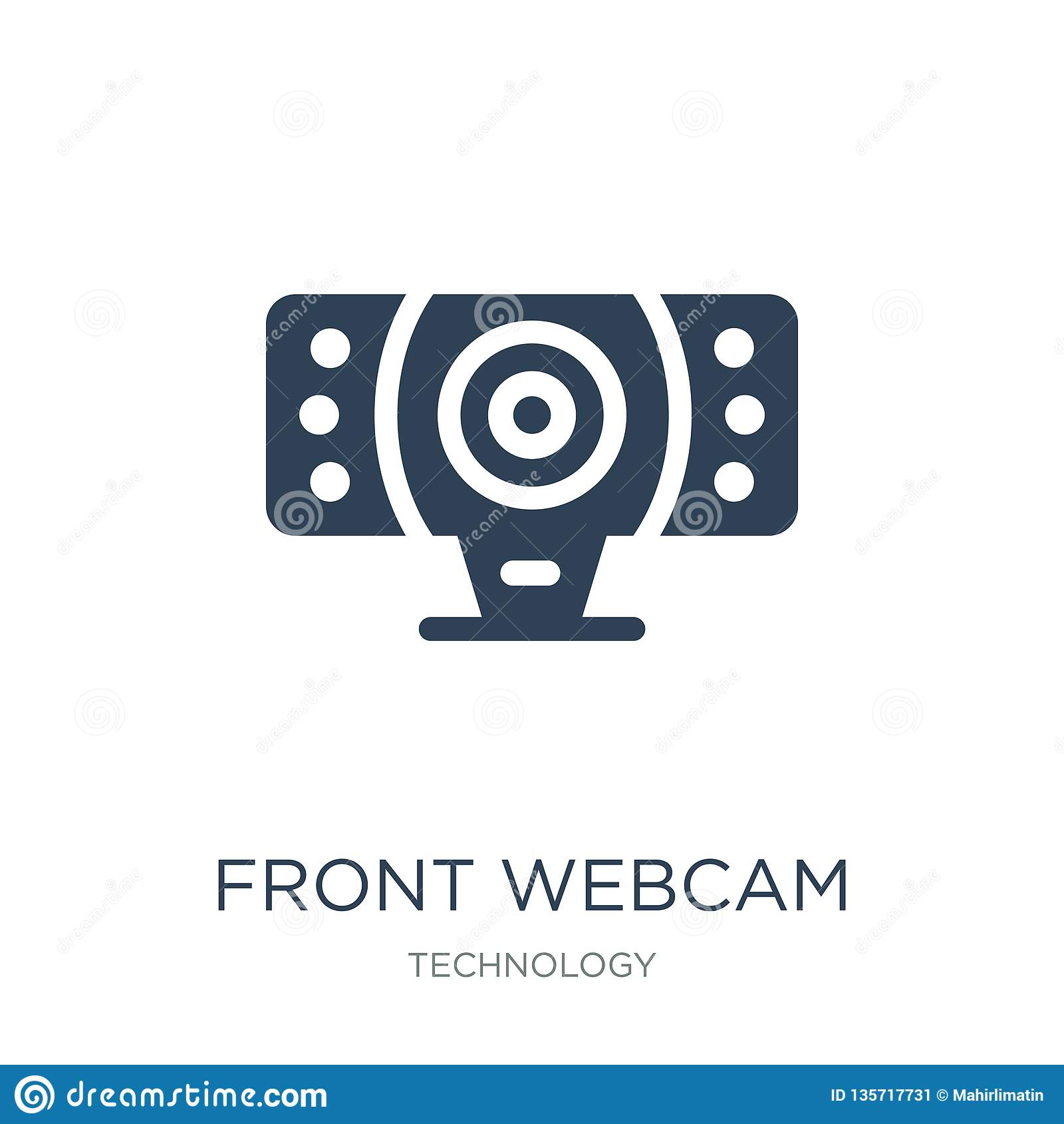 front webcam icon in trendy design style. front webcam icon isolated on white background. front webcam vector icon simple and