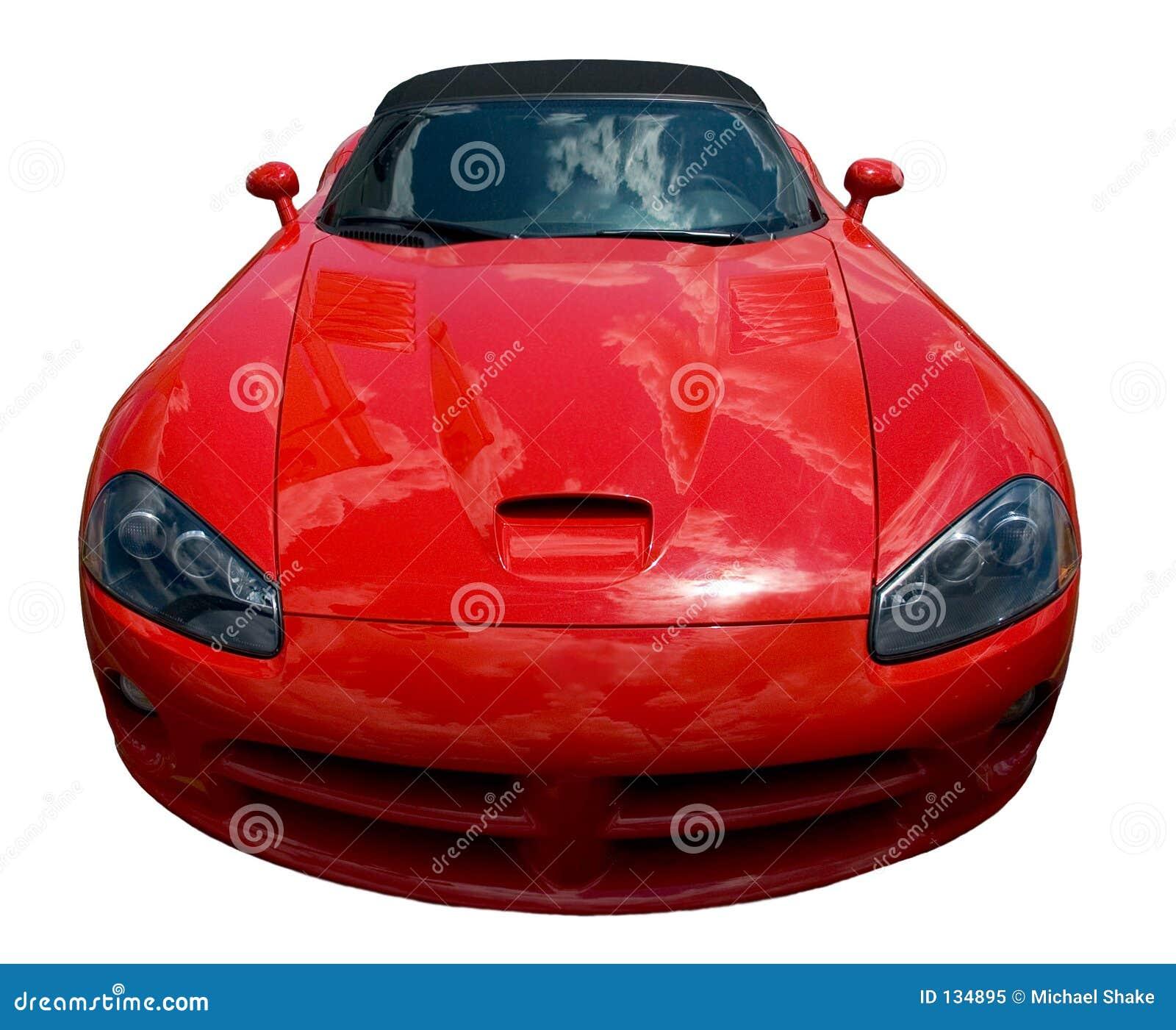 Frontal d une voiture de sport
