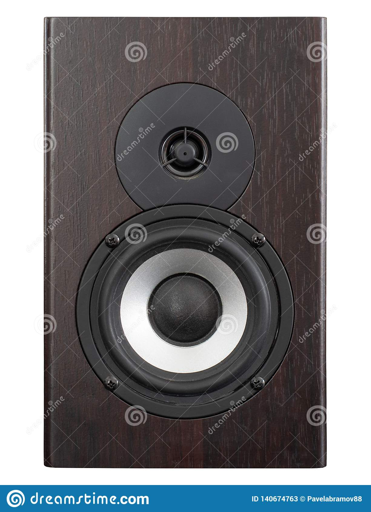 Audio speaker with white membrane