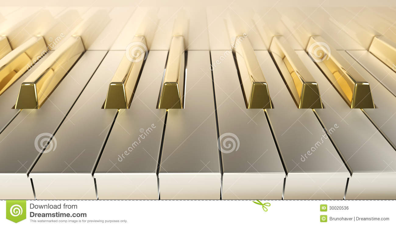 Gold Piano Front Stock Illustration Image Of Performance