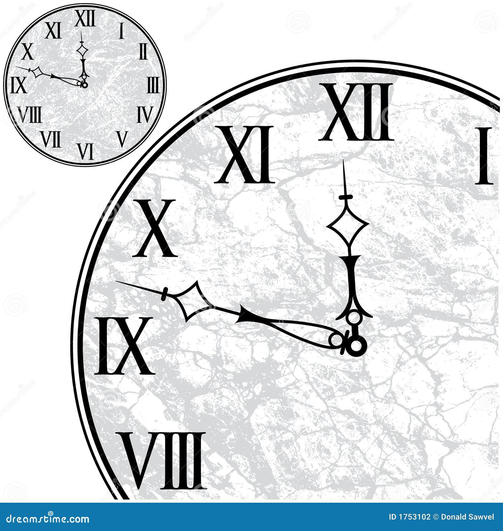 Fronte di orologio con i numeri romani illustrazione di for Orologio numeri romani