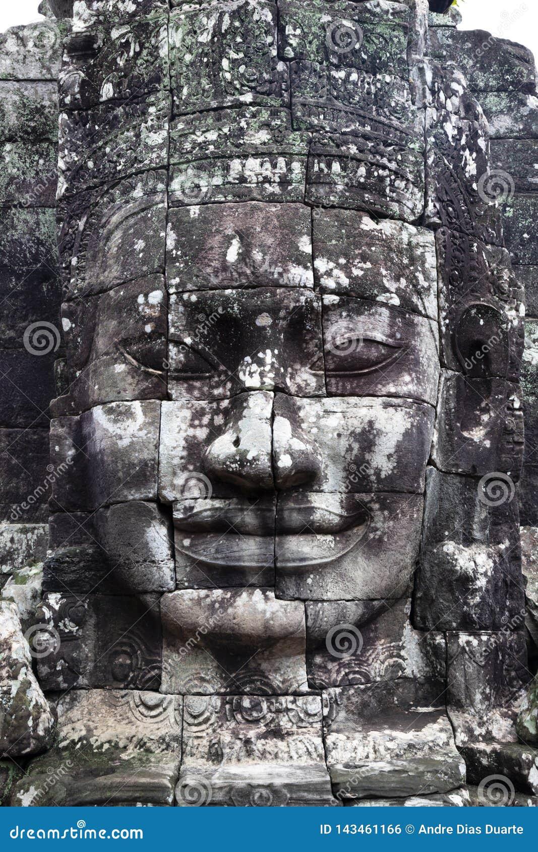 Fronte di pietra in Cambogia