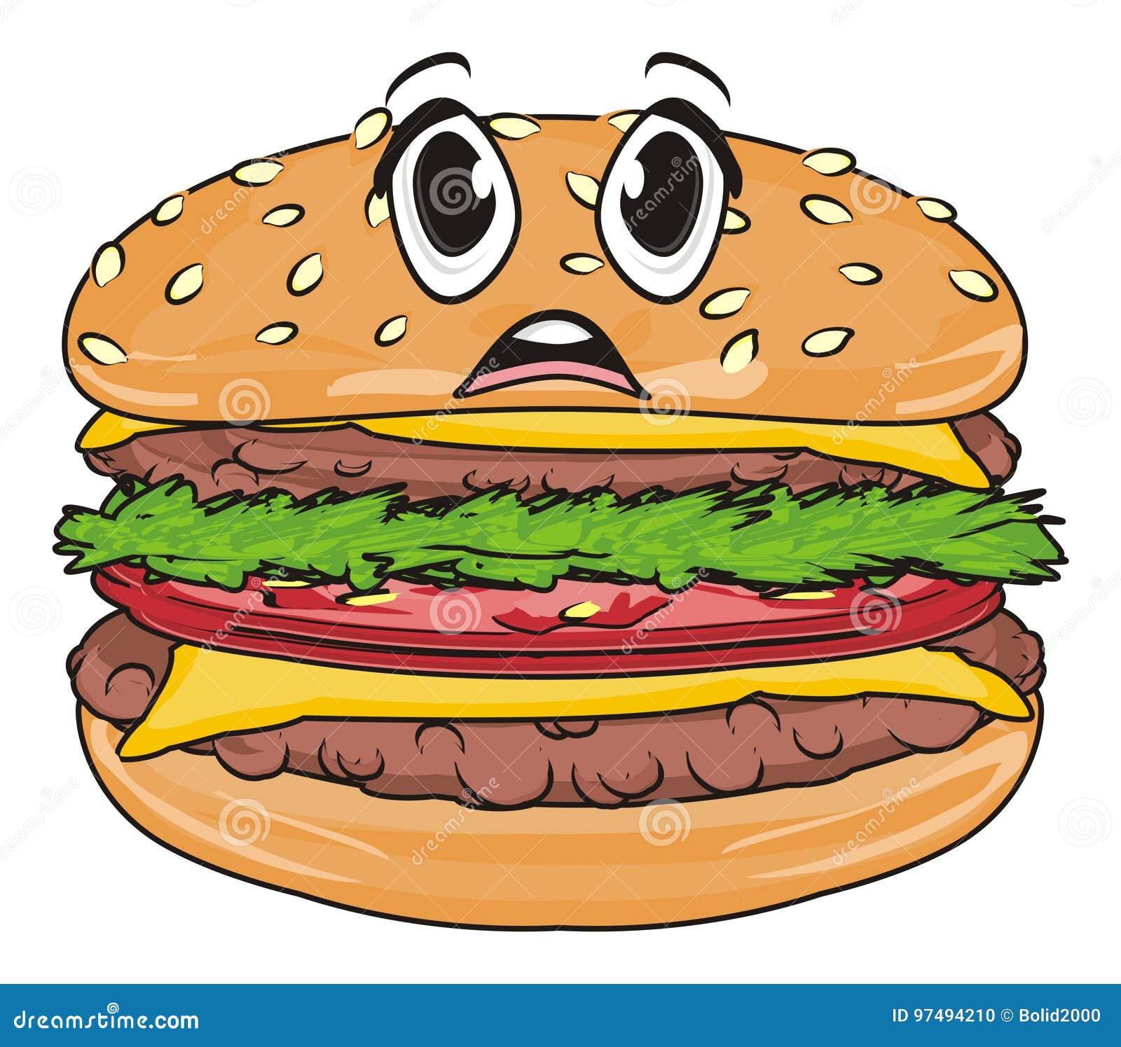 Fronte di sorpresa dell hamburger