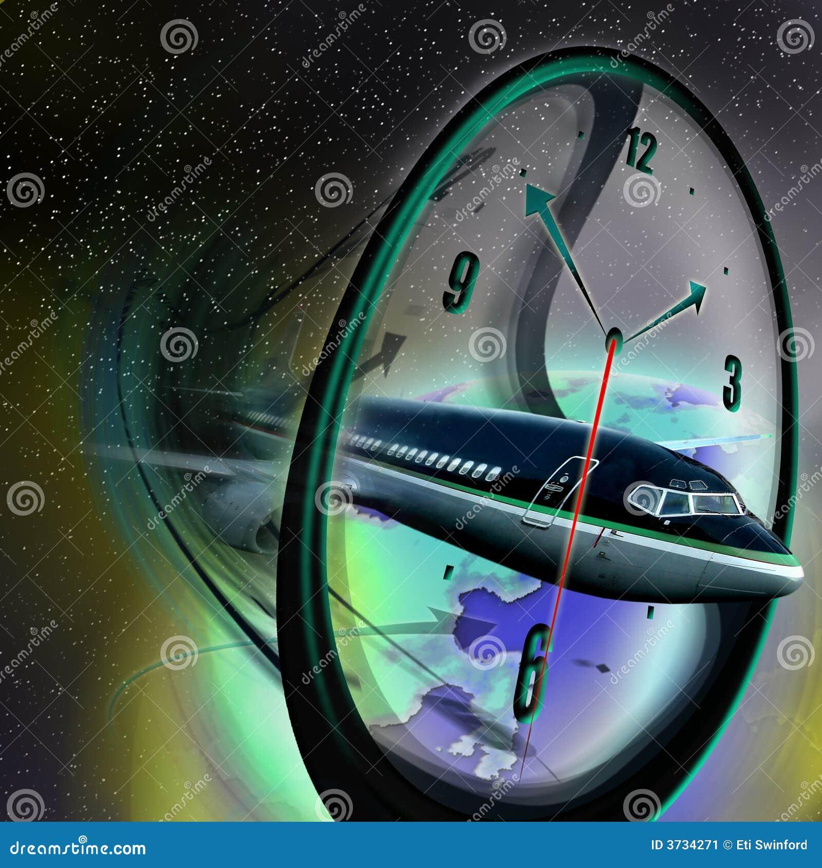 Fronte ed aeroplano di orologio