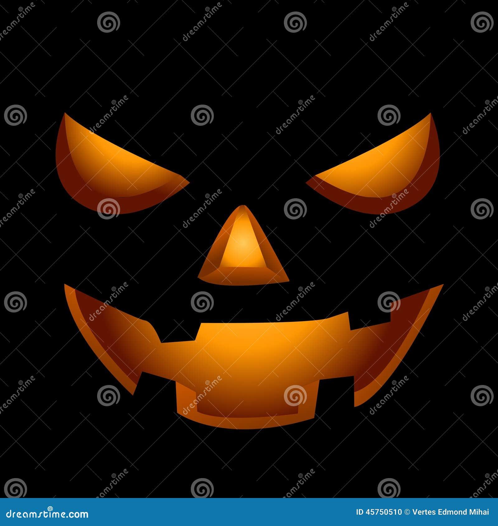 Fronte spaventoso della zucca di Halloween