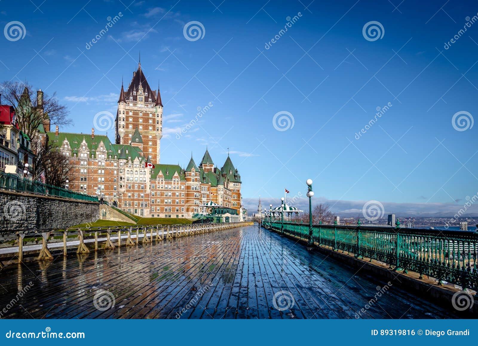 Frontenac Castle και πεζούλι Dufferin - πόλη του Κεμπέκ, Κεμπέκ, Καναδάς