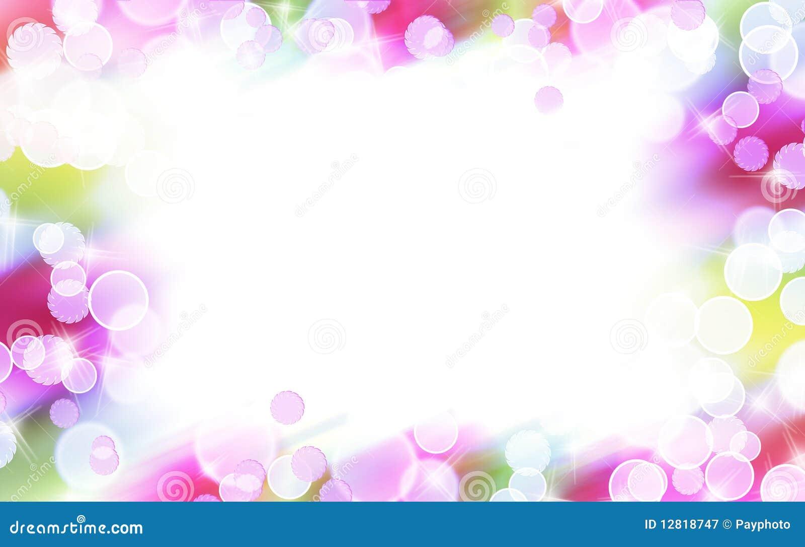 Frontera colorida abstracta de la burbuja