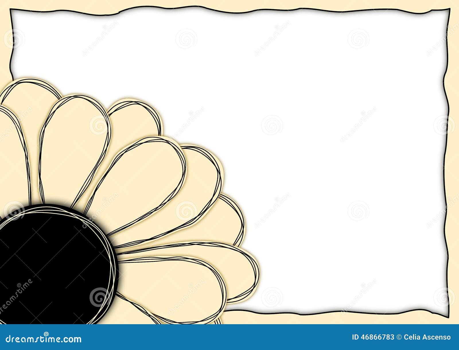 Frontera de la esquina del marco de la flor de papel