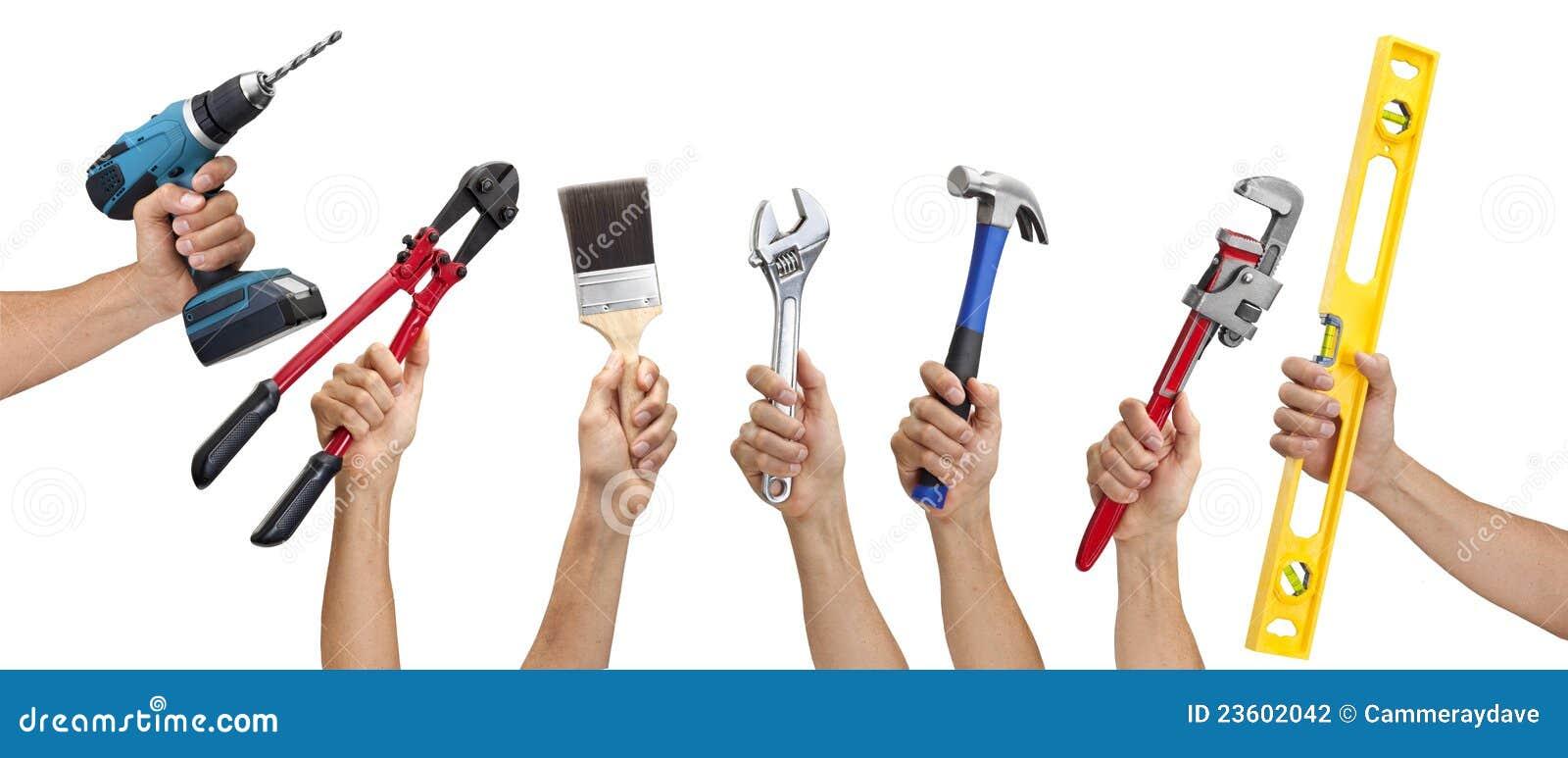 Frontera de la mano de las herramientas