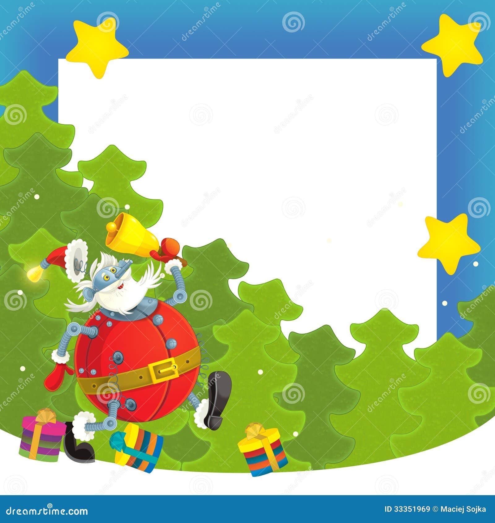Frontera de la navidad de la historieta ejemplo para los - Postales navidad para ninos ...